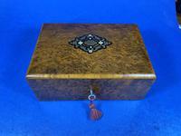 French 19th Century Burr Cedar Box. (8 of 14)