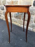 Antique Rosewood & Brass Bijouterie Display Table (6 of 10)