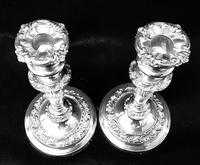 Pair of Old Sheffield Plate Candlesticks (4 of 5)