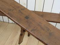Pair of Antique Oak Benches (3 of 7)