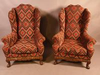 Very Good Pair of Wing Armchairs in the style of George II (13 of 15)