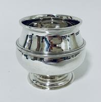 Antique Solid Sterling Silver Sugar Bowl by Walker & Hall (6 of 12)
