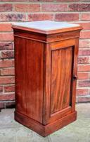 Victorian Mahogany Bedside Cupboard With Marble Top (6 of 8)
