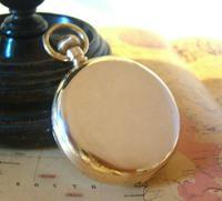 Antique Omega Labrador Pocket Watch 1912 15 Jewel 10ct Rose Gold Filled Case FWO (5 of 12)
