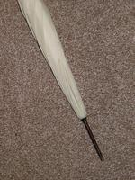 Antique Gold Plate English Made Umbrella With Lucite Crook Handle & Cream Canopy (17 of 17)
