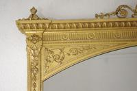 Victorian Gilt Adam Style Overmantle Mirror (4 of 10)