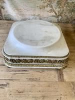 19th Century French White Marble Stand with Ormolu Decoration (6 of 8)