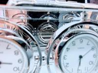 Decorative Desk or Wall Clock with Three Multi - Directional Giroscopic Clocks (7 of 8)