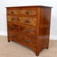 Chest of Drawers Burl Walnut Victorian (5 of 11)