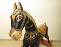 Unusual Asian Painted Rocking Horse (2 of 3)