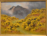Oil Painting of Mount Snowdon by Alfred Oliver (5 of 8)