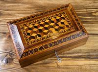Rosewood Tunbridge Ware Table Box 1880 (2 of 9)