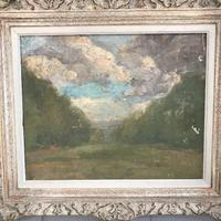 Antique Impressionist study in oil on canvas by Albert de Belleroche (3 of 11)