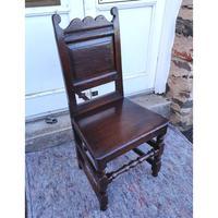 Good 17th Century Oak Hall Chair (2 of 6)