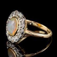 Antique Edwardian Opal Diamond Ring 18ct Gold Platinum 1.80ct Opal Circa 1910 (6 of 7)