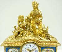 Antique 8 Day Ormolu Mantel Clock Sevres Mother & Child French Mantle Clock (12 of 16)