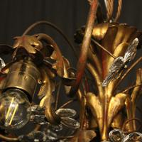 Italian Gilded Florentine 5 Light Plaffonier (7 of 10)