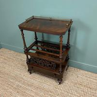 Victorian Rosewood Antique Canterbury (4 of 7)
