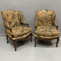 Pair of French Wing Armchairs (4 of 9)