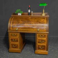 Sheraton Revival Mahogany Cylinder Desk