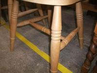 Set of Four Spindle Back Pine Chairs (3 of 3)