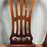 Elegant Pair of Edwardian Walnut Hepplewhite Design Antique Carver Chairs (2 of 7)