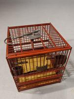 Most Unusual 1920's Hardwood & Lacquered Bird Cage (7 of 9)