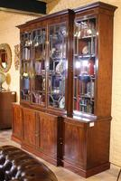 George 3 mahogany breakfront bookcase library circa 1800 (9 of 9)