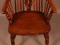 Yew Wood High Windsor Chair c.1850 (9 of 9)