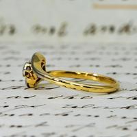 The Antique Old Cut Bezel Set Toi Et Moi Ring (4 of 5)