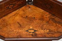 Antique Victorian Walnut Inlaid Corner Whatnot (9 of 15)