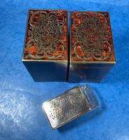 Victorian French Tortoiseshell Twin Canister Tea Caddy (14 of 17)