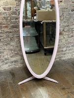 Pink 1960's Oval Mirror (3 of 5)