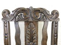 19th Century Antique Gothic Carved Oak Chair (7 of 8)