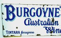 Rare Late Victorian Enamel Burgoynes Australian Wine Sign Extremely Large (6 of 10)