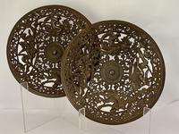 Pair of 19th Century Coalbrookdale Cast Iron Plates c.1880