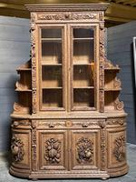 Magnificent French Carved Oak Hunting Sideboard