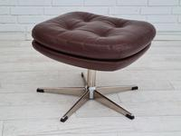 H.W.Klein, Danish swivel armchair, 70s, leather, original upholstery, very good condition (18 of 19)