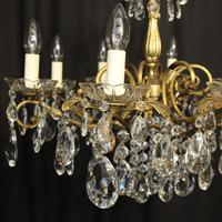 Italian Gilded Brass 8 Light Antique Chandelier (4 of 8)