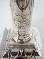 "Pair of Elegant 14cm (5.5"") Edwardian Silver Candlesticks (7 of 8)"