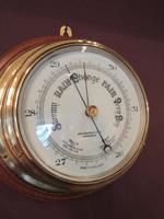 Antique Barker of London Bulkhead Marine Barometer (2 of 5)