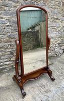 Victorian Floorstanding Mahogany Cheval Mirror (2 of 16)