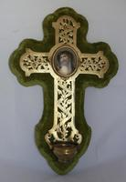 19th Century French Wall Stoup Cross