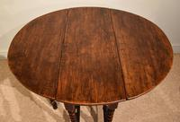 Late 17th Century Elm Drop Leaf Table (3 of 5)