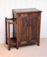 Edwardian Oak Hall Cabinet (3 of 10)