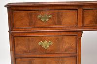 Large Antique Walnut Leather Top Pedestal Desk (2 of 12)
