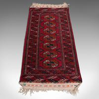 Antique Near Pair, Bokhara Rugs, Turkoman, Tekke, Carpet, Wall Covering, C.1910 (5 of 12)