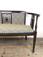 Antique Edwardian Mahogany Inlaid Parlour Sofa (12 of 15)