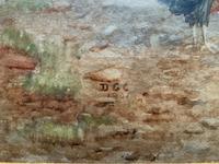 Large Original Edwardian Antique Yorkshire Hamlet Landscape Watercolour Painting (11 of 13)