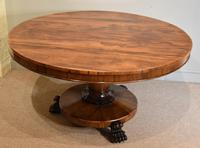 19th Century Rosewood Breakfast Table with Hairy Paw Feet (6 of 9)